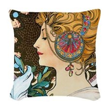 Pillow Mucha Feather Woven Throw Pillow