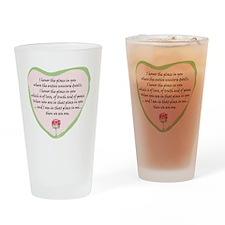 namaste-front Drinking Glass