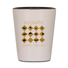 brisbanewildwhite Shot Glass