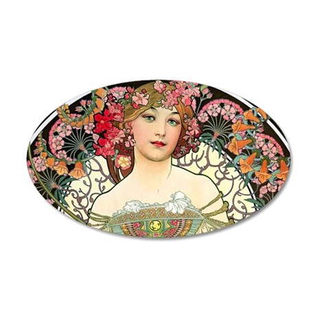 Clutch Mucha FChamp 35x21 Oval Wall Decal