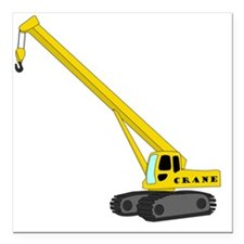 "Crane Square Car Magnet 3"" x 3"""