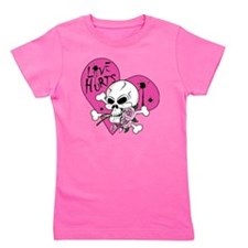 Love Hurts Skull.ai Girl's Tee