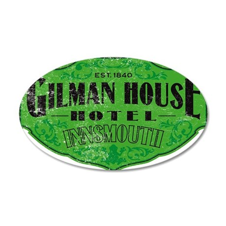 GILMAN HOUSE HOTEL 35x21 Oval Wall Decal
