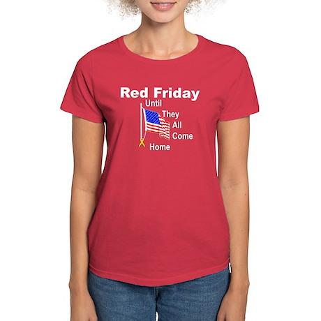 Red Friday (yellow ribbon) Women's Dark T-Shirt