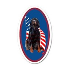 gordon setter with flag2 Wall Decal