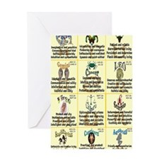 zodiac-journal Greeting Card