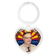may11_sheriff_joe Heart Keychain