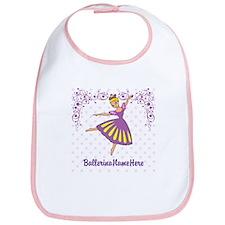 Personalize Your Purple Ballerina! Bib