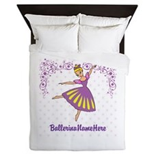 Personalize Your Purple Ballerina! Queen Duvet