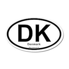 dk_denmark 35x21 Oval Wall Decal