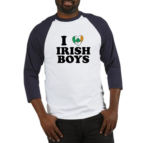 I Love Irish Boys Heart Baseball Jersey