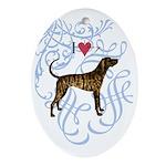 plott-oval charm Oval Ornament