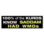 100% of the KURDS Bumper Sticker