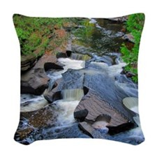 Presque Isle River Woven Throw Pillow