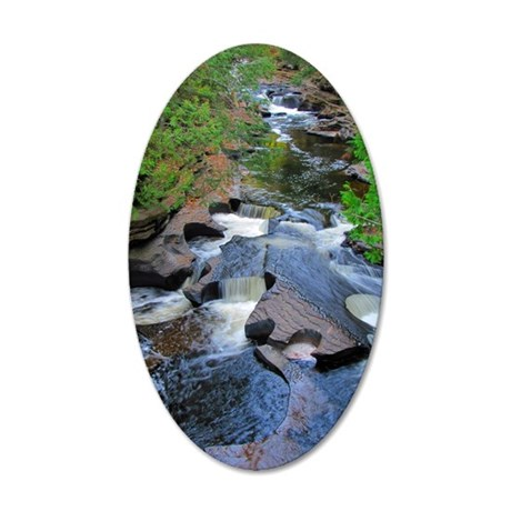 Presque Isle River 35x21 Oval Wall Decal