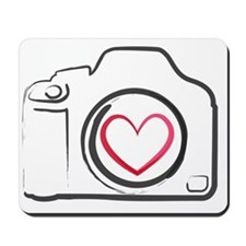 DSLR Camera Heart Mousepad