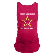SoldiersHeart_DarkShirt Maternity Tank Top