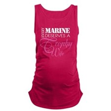 MarineTrophyWife_DarkShirt Maternity Tank Top