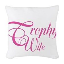 MarineTrophyWife_DarkShirt Woven Throw Pillow