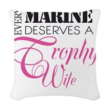 MarineTrophyWife Woven Throw Pillow