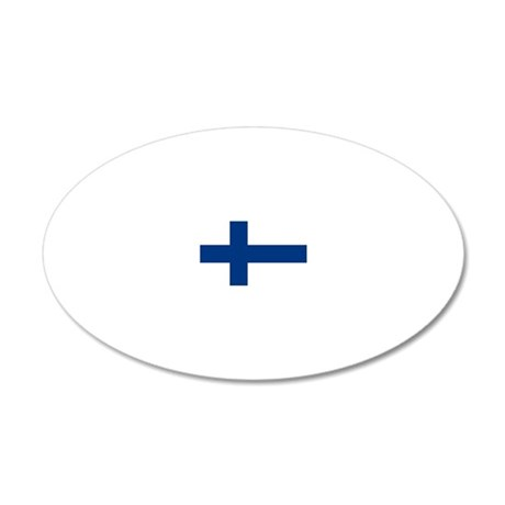 2000px-Flag_of_Finland 20x12 Oval Wall Decal