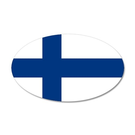 2000px-Flag_of_Finland 35x21 Oval Wall Decal