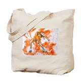 Orange Crush Ice Skater Tote Bag