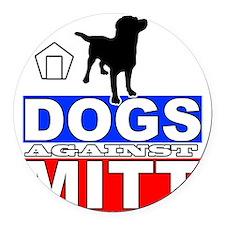Mitt Romney Dogs Against Mitt 2 Round Car Magnet