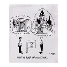 5964_real_estate_cartoon Throw Blanket