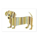 Striped Dachshund Puppy Postcards (Package of 8)