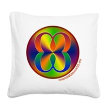 Mandalas World Icon Square Canvas Pillow