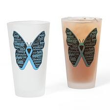 Thyroid Disease Butterfly Drinking Glass