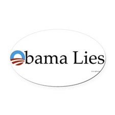 Cute Obama lied Oval Car Magnet