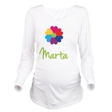 Marta-Heart-Flower Long Sleeve Maternity T-Shirt