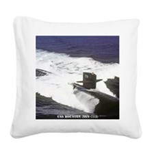 houston framed panel print Square Canvas Pillow