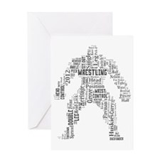 Transparent Wrestler Greeting Card