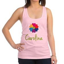 Carolina-Heart-Flower Racerback Tank Top