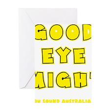 yellow, Good Eye Might, hot mustard Greeting Card