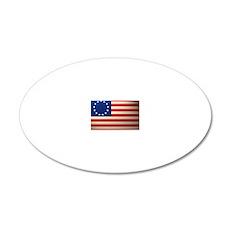 Betsy Ross Revolutionary War 20x12 Oval Wall Decal