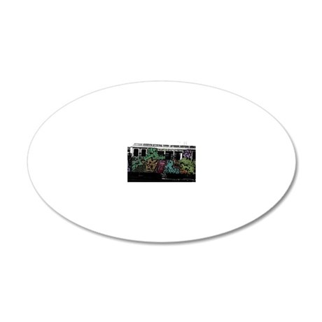 s80 Culture Clash 20x12 Oval Wall Decal