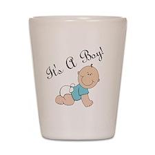 Its a boy! Shot Glass