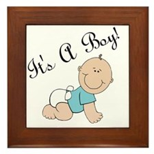 Its a boy! Framed Tile