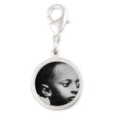 Selassie and Lion pics 021 Silver Round Charm