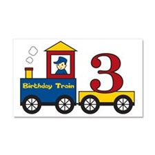 birthdaytrain3 Car Magnet 20 x 12