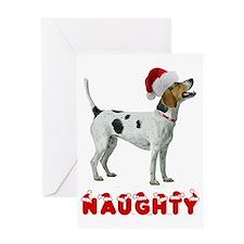 Naughty American Foxhound Greeting Card