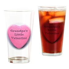 Grandpas valentine girl Drinking Glass