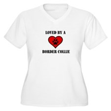 Loved By A Border Collie Plus Size T-Shirt