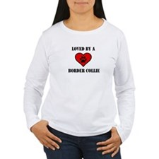 Loved By A Border Collie Long Sleeve T-Shirt