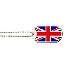 Union Jack Flag Dog Tags