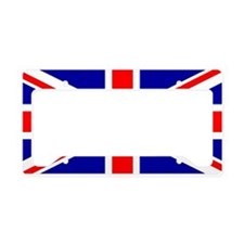 Union Jack Flag License Plate Holder